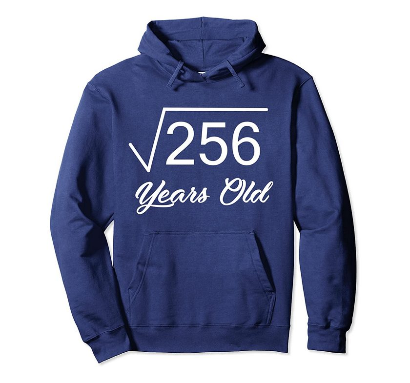 16rd birthday gift 16 years old square root of 256 pullover hoodie 1 - Classic Shop