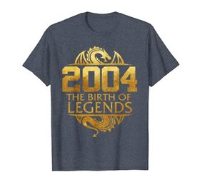 2004 The Birth Of Legends Gift For 15 Yrs Years Old 15th